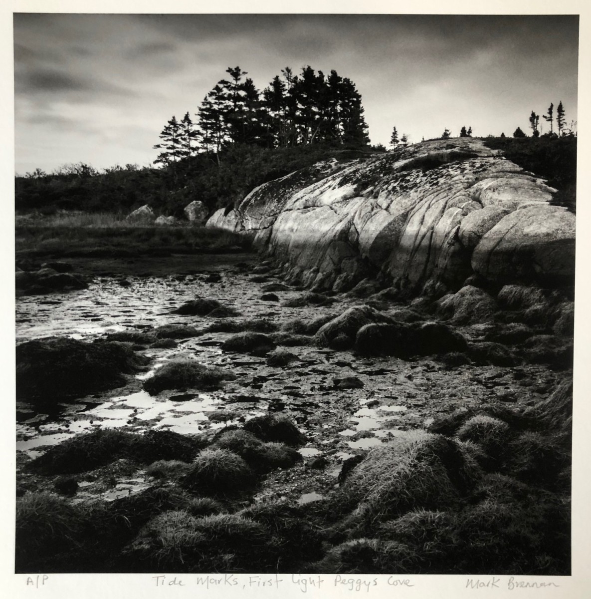 Tide Marks, First Light, Peggys Cove, Nova Scotia by Mark Brennan