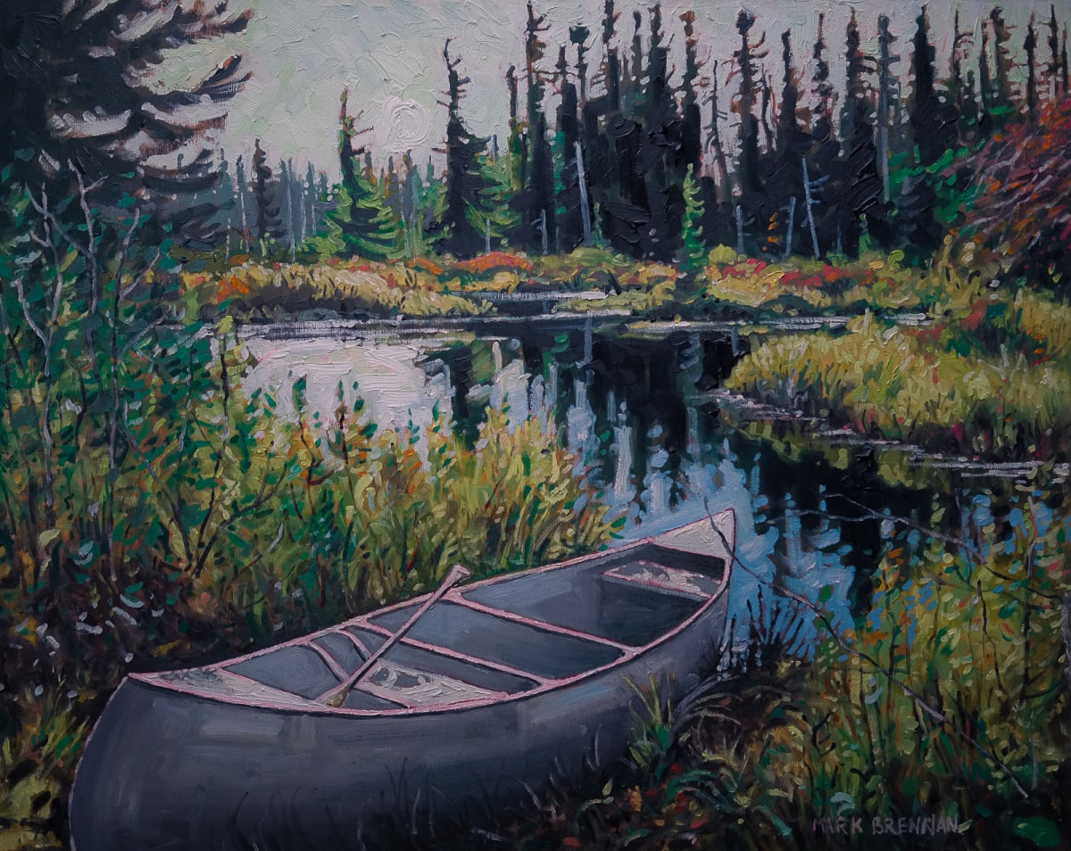 October Sporting Lake Stream, Nova Scotia by Mark Brennan