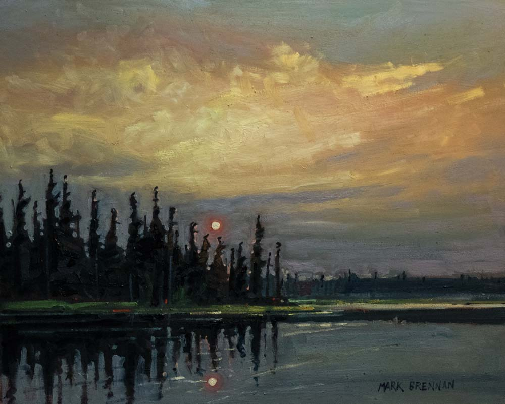 Red Sun Rising, Perch Lake, Nova Scotia by Mark Brennan