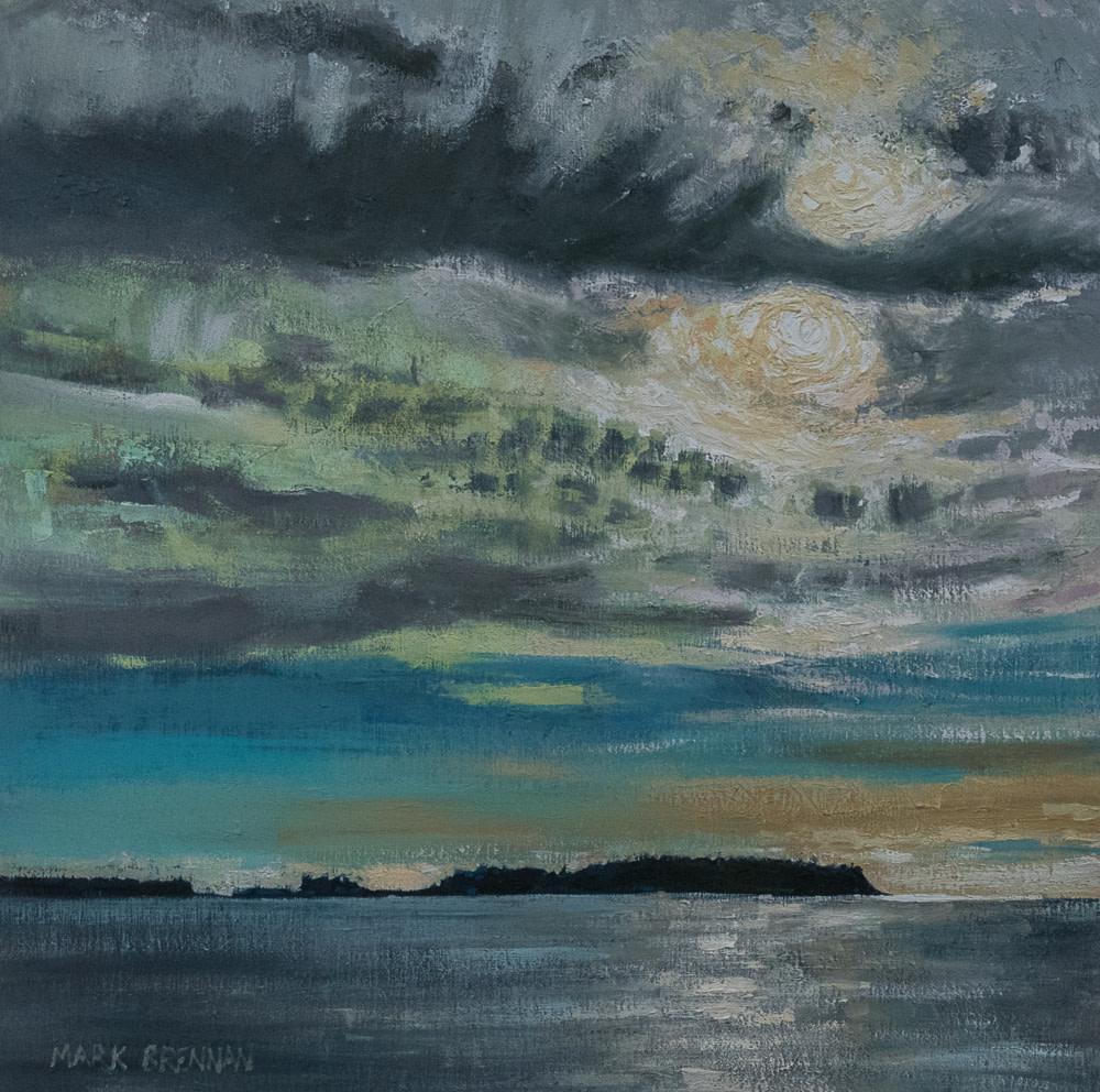 Winter Sun, Sober Island, Nova Scotia by Mark Brennan