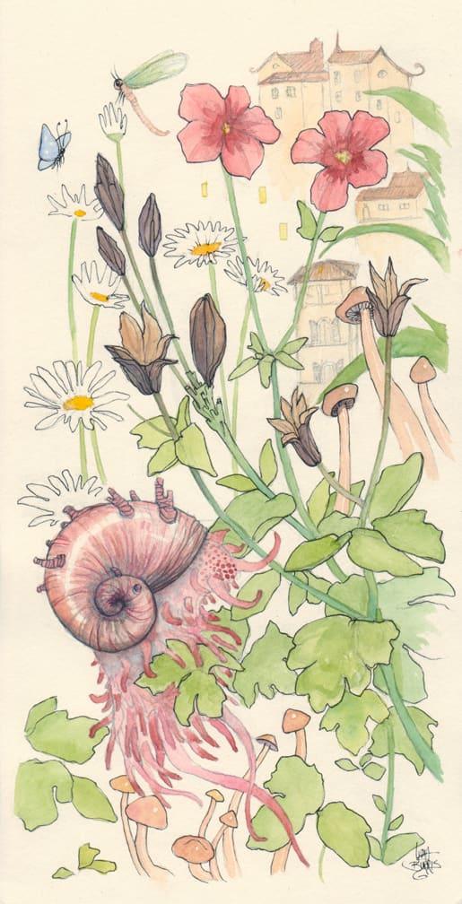 Garden Snaily Creature by Lydia Burris