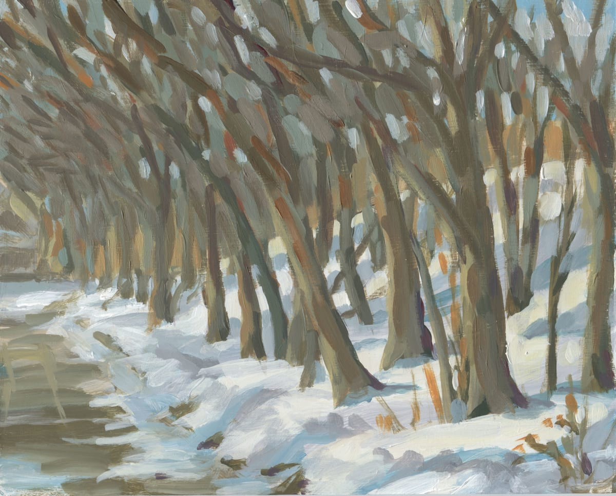 Winter Trees on Pleasant Avenue by Carrie Arnold