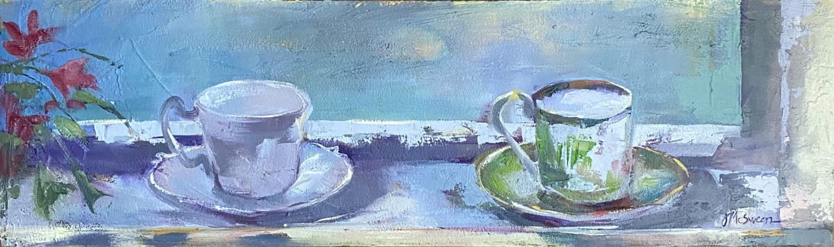 Windowsill Teacups by Judy McSween