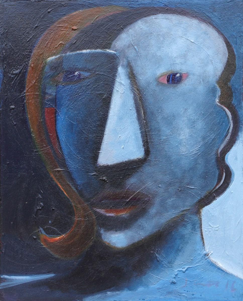 1221 Blue Head by Judy Gittelsohn