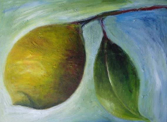 1038 Lemon One Leaf by Judy Gittelsohn