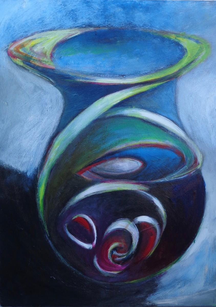 1111 Blue Bottle with Seeds Potion by Judy Gittelsohn