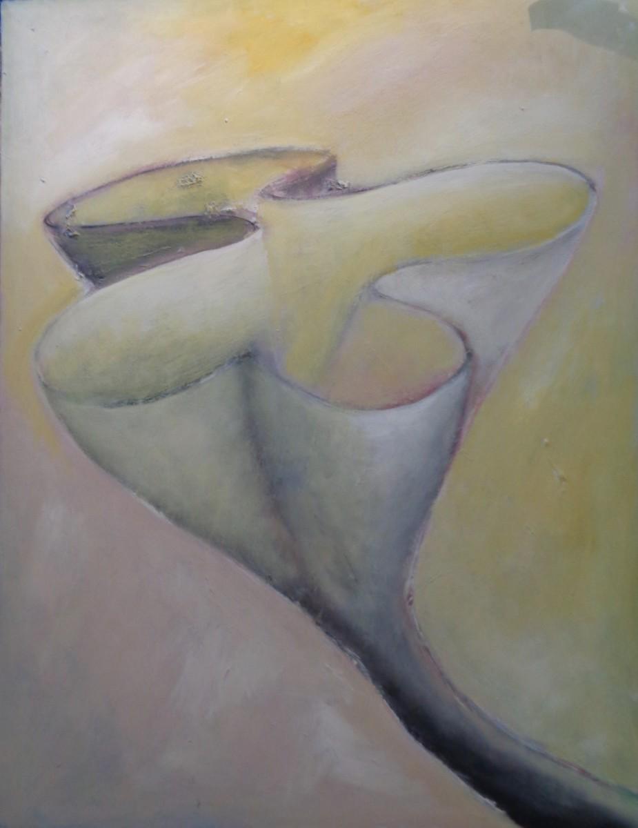 1208 Yellow Tipped Swirl Plant by Judy Gittelsohn