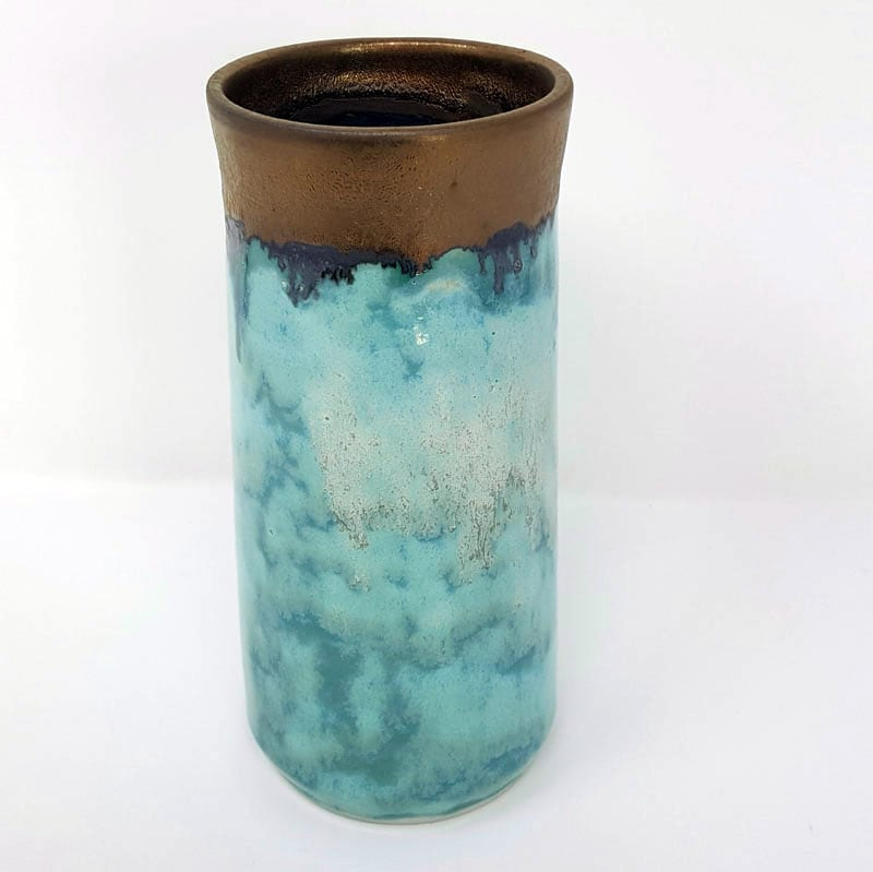 BRI052, Summer Clouds Vase by Jane Bridger