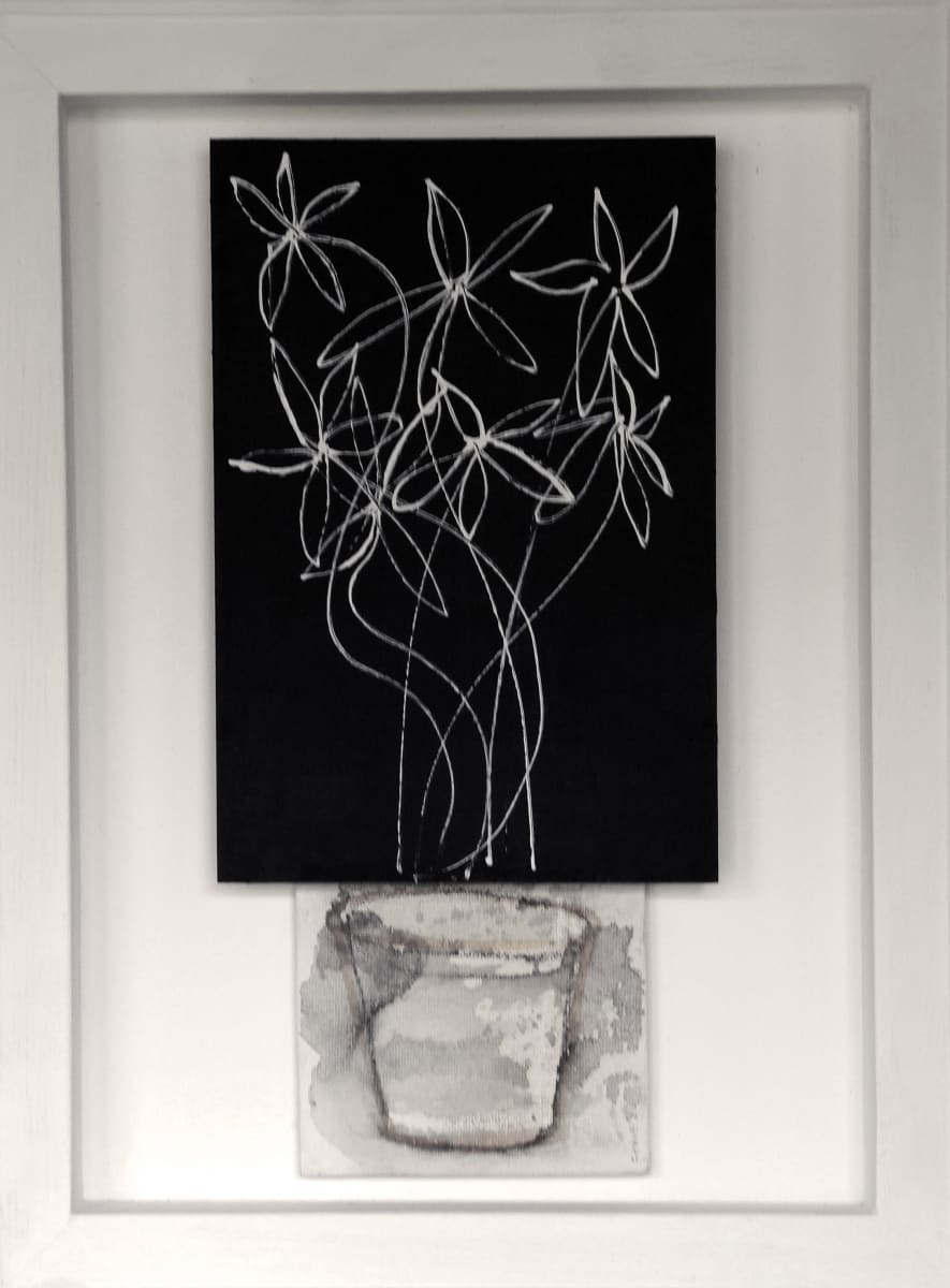 CHA184, Flowers + Vase No. 1 by Paul Chave - Painting