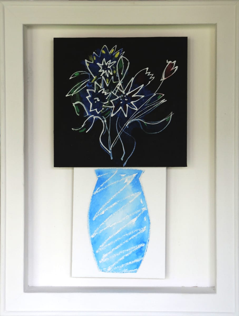 CHA185, Flowers + Vase No. 2 by Paul Chave - Painting