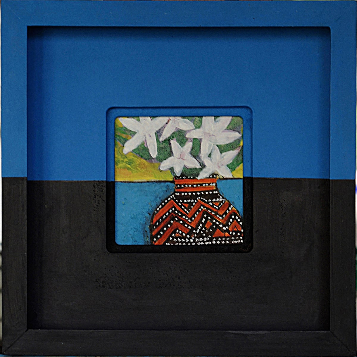 CHA186, White Flowers + Vase by Paul Chave - Painting