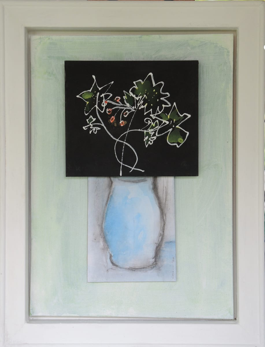 CHA187,  Flowers + Vase No. 3 by Paul Chave - Painting