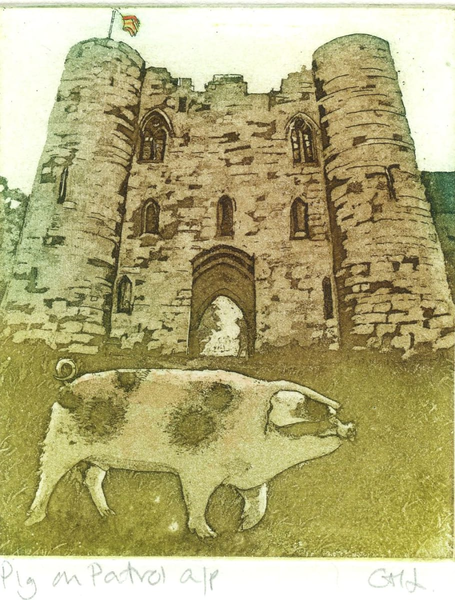 LON184, Pig on Patrol a/p by Claire Longley
