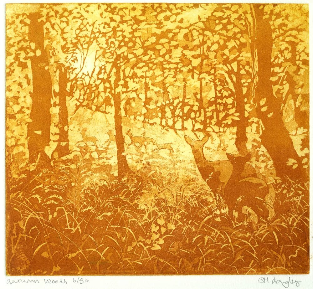 LON303, Autumn Woods by Claire Longley