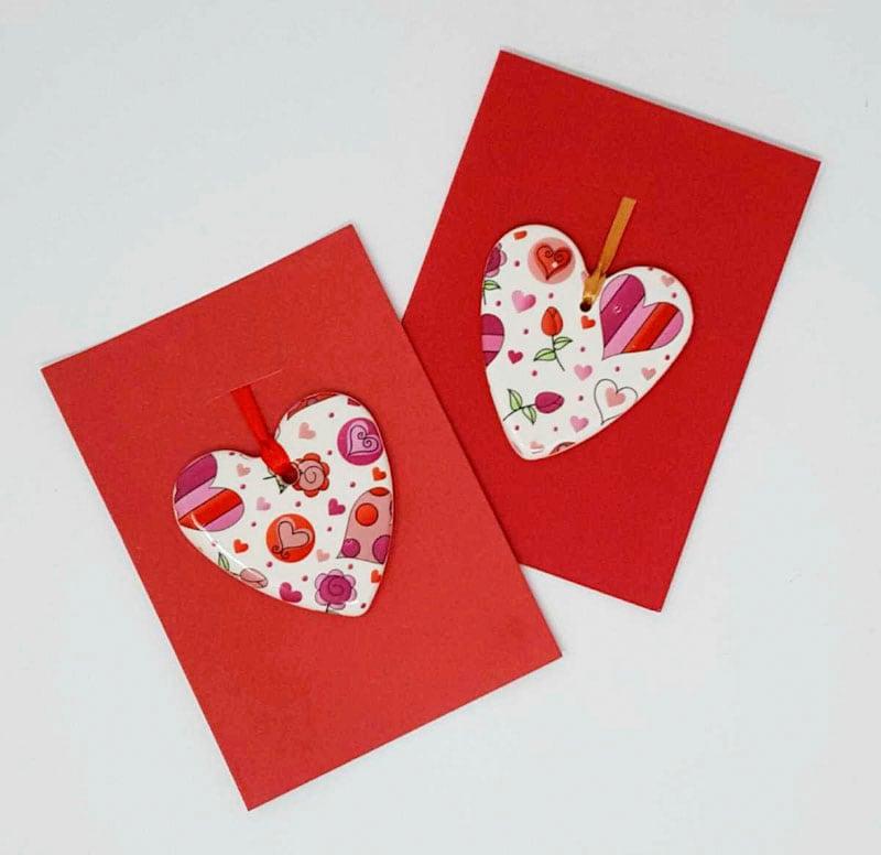 BRI101, Ceramic Heart  Card by Jane Bridger