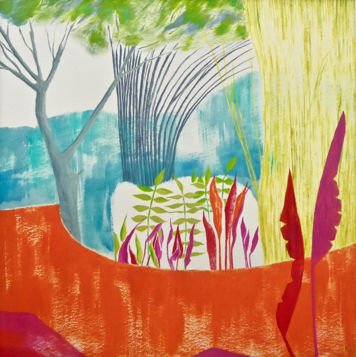 WHI020, Garden Glimpse 2 by Katie Whitbread