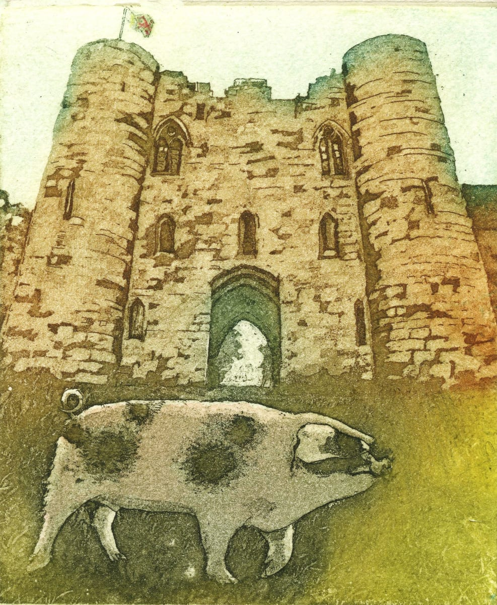 LON159, Pig on Patrol by Claire Longley