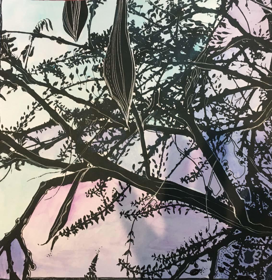 MCD166, Evening Wisteria by Ruth McDonald
