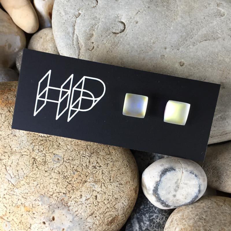 PAX346, Square GLOW Stud Earrings by Hildegard Pax - Jewellery