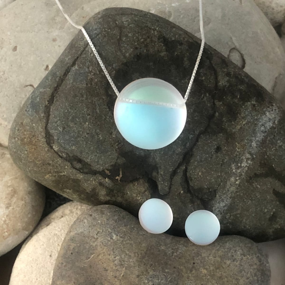 PAX383 Glow - Round Necklace & Earrings Set by Hildegard Pax - Jewellery