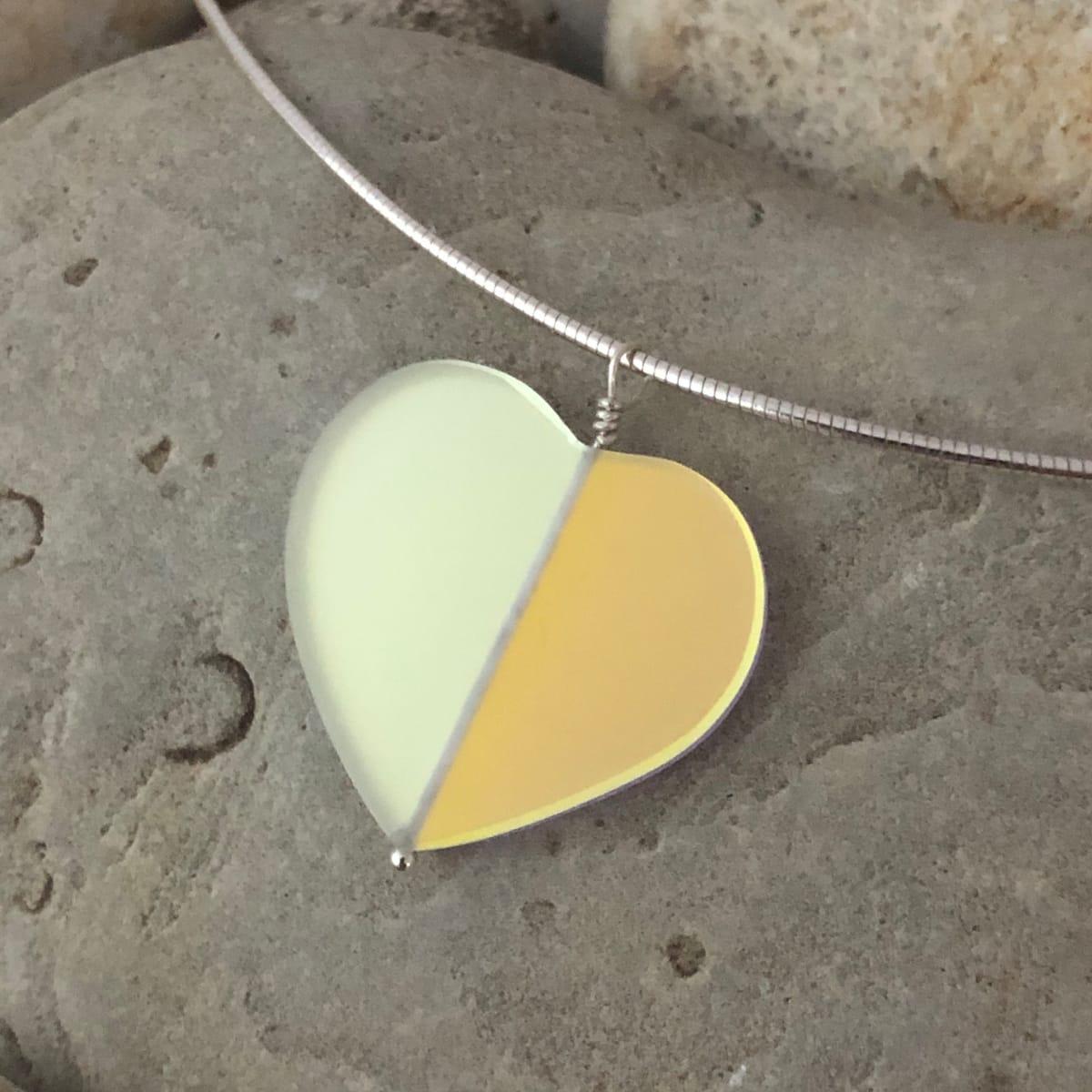 "PAX451,  Heart GLOW Glass Gems 18"" Pendant Necklace by Hildegard Pax - Jewellery"