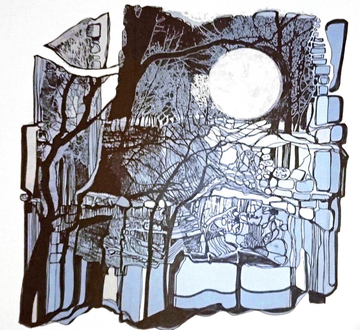 MCD119, Supermoon in Ancient Times by Ruth McDonald