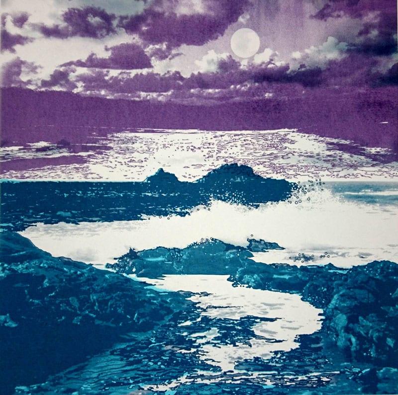 MCD155, Waves on the Rocks by Ruth McDonald
