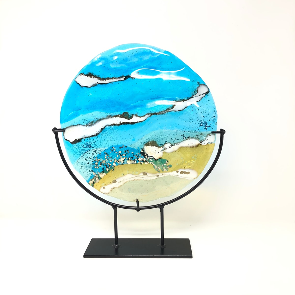 SHI321, Beach ripples in metal stand by Hilary Shields