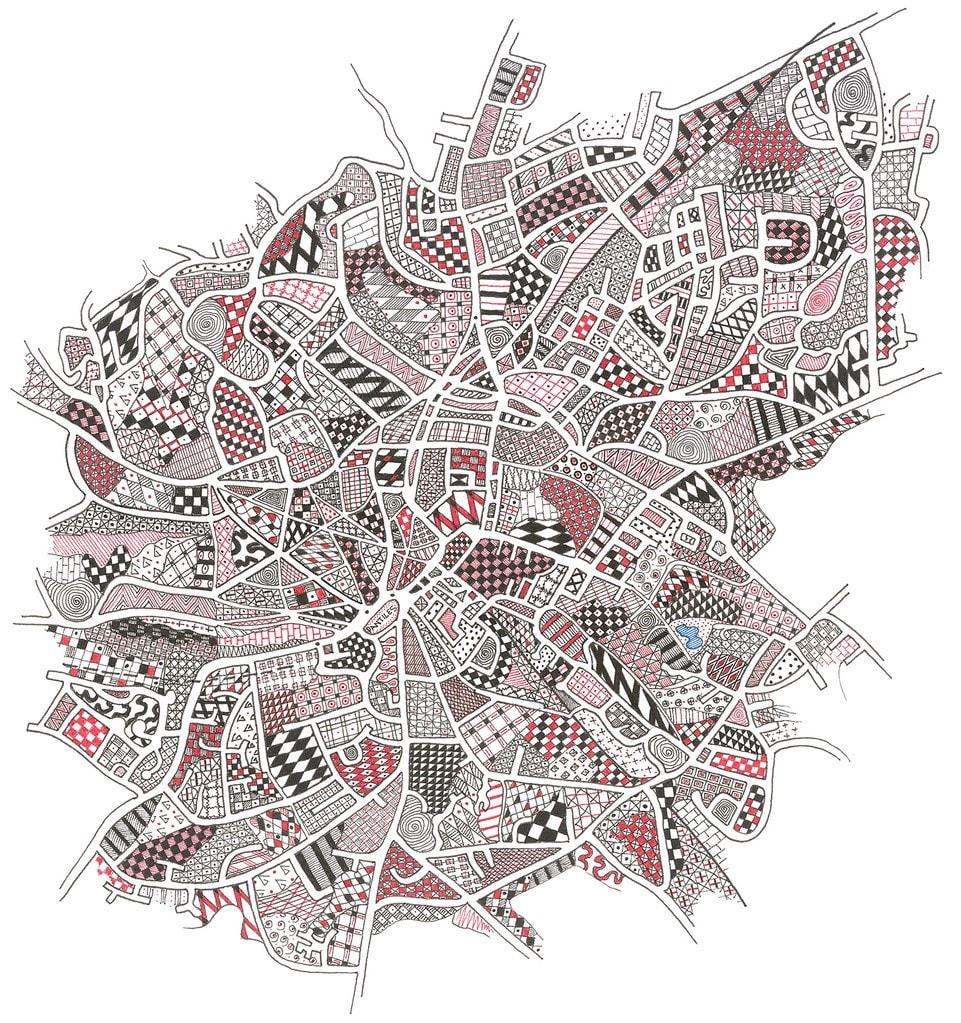 HIG007, Tunbridge Wells by Christine Highland - Maps
