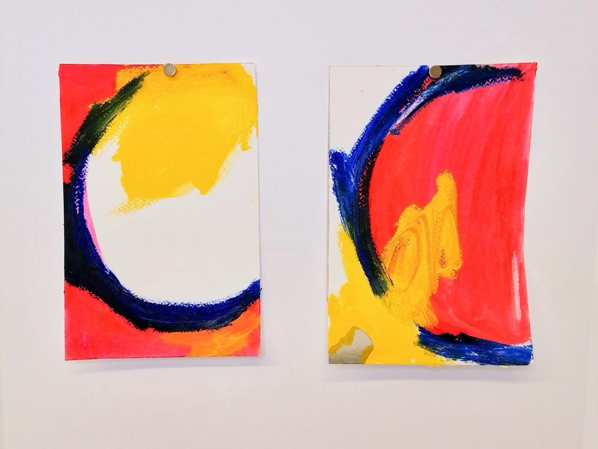 Blue, red and yellow by Alejandra Jean-Mairet