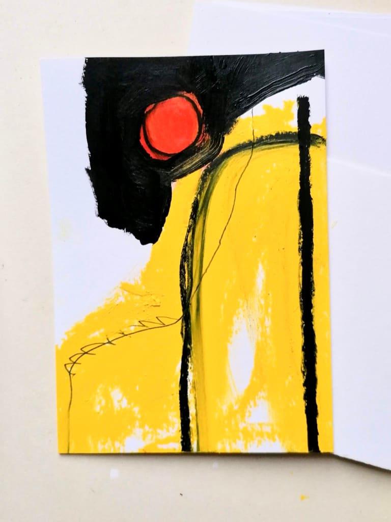 Yellow, orange, black by Alejandra Jean-Mairet