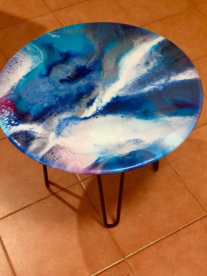 Coffee/Patio Table A Love So Deep by Gayle Reichelt