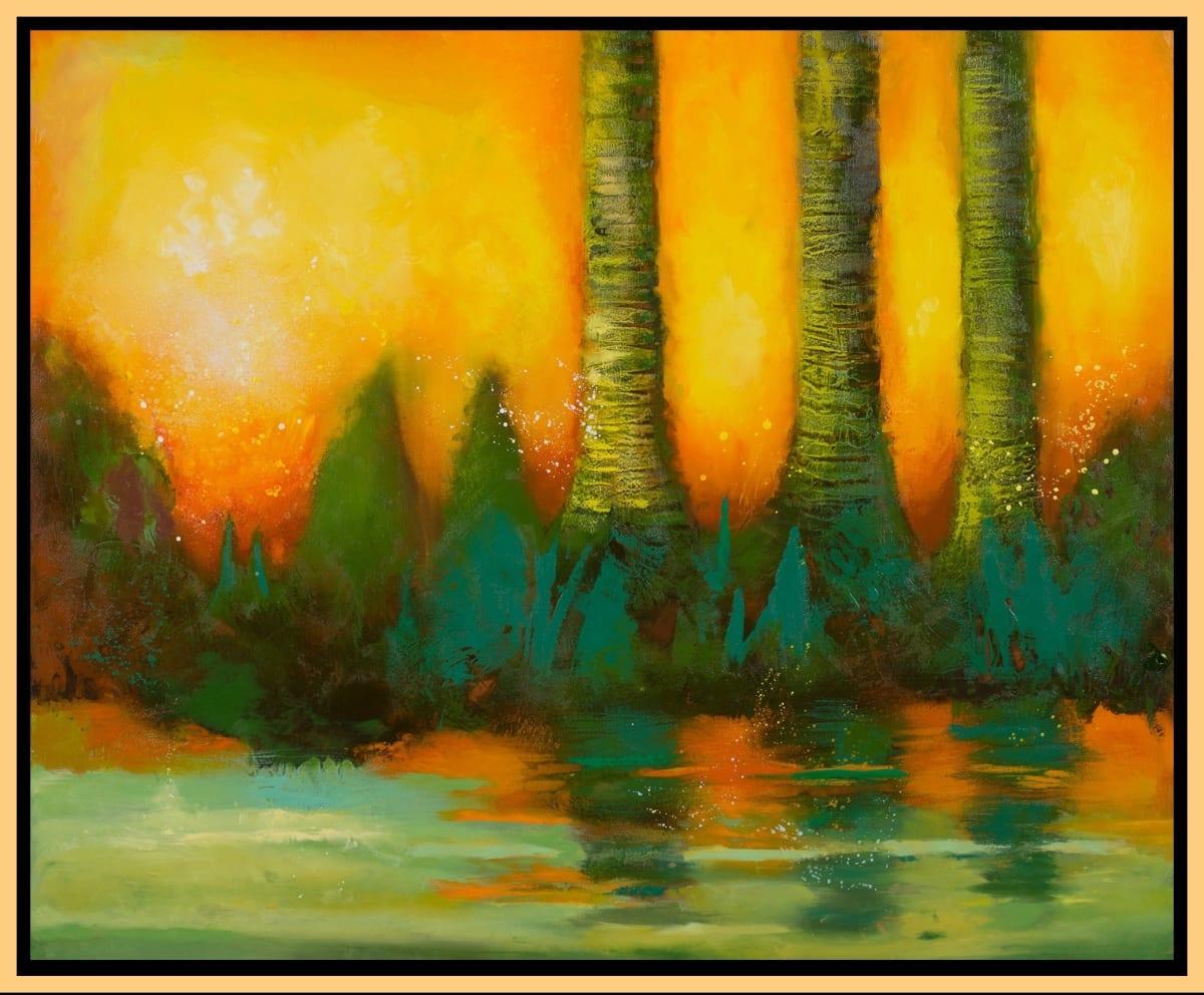Fiery Marsh by Leslie Neumann