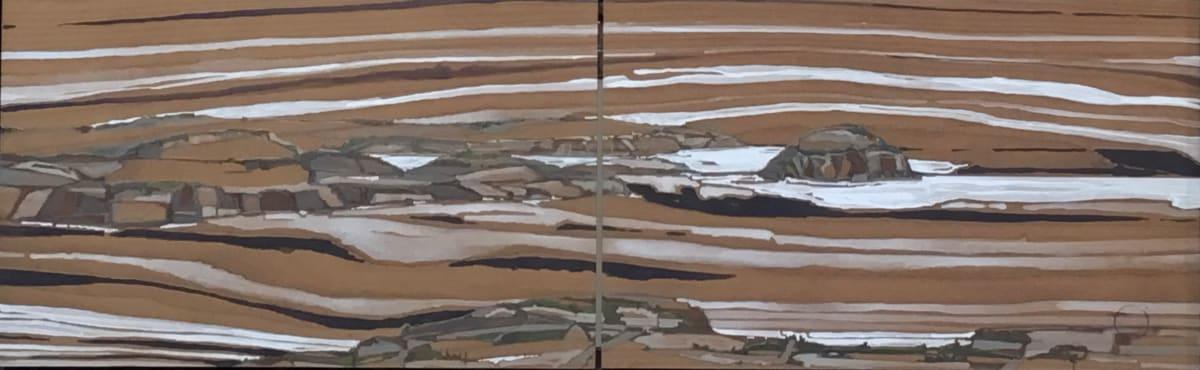 Inland Pond IP 43-21a+21b, Diptych by Barbara Houston