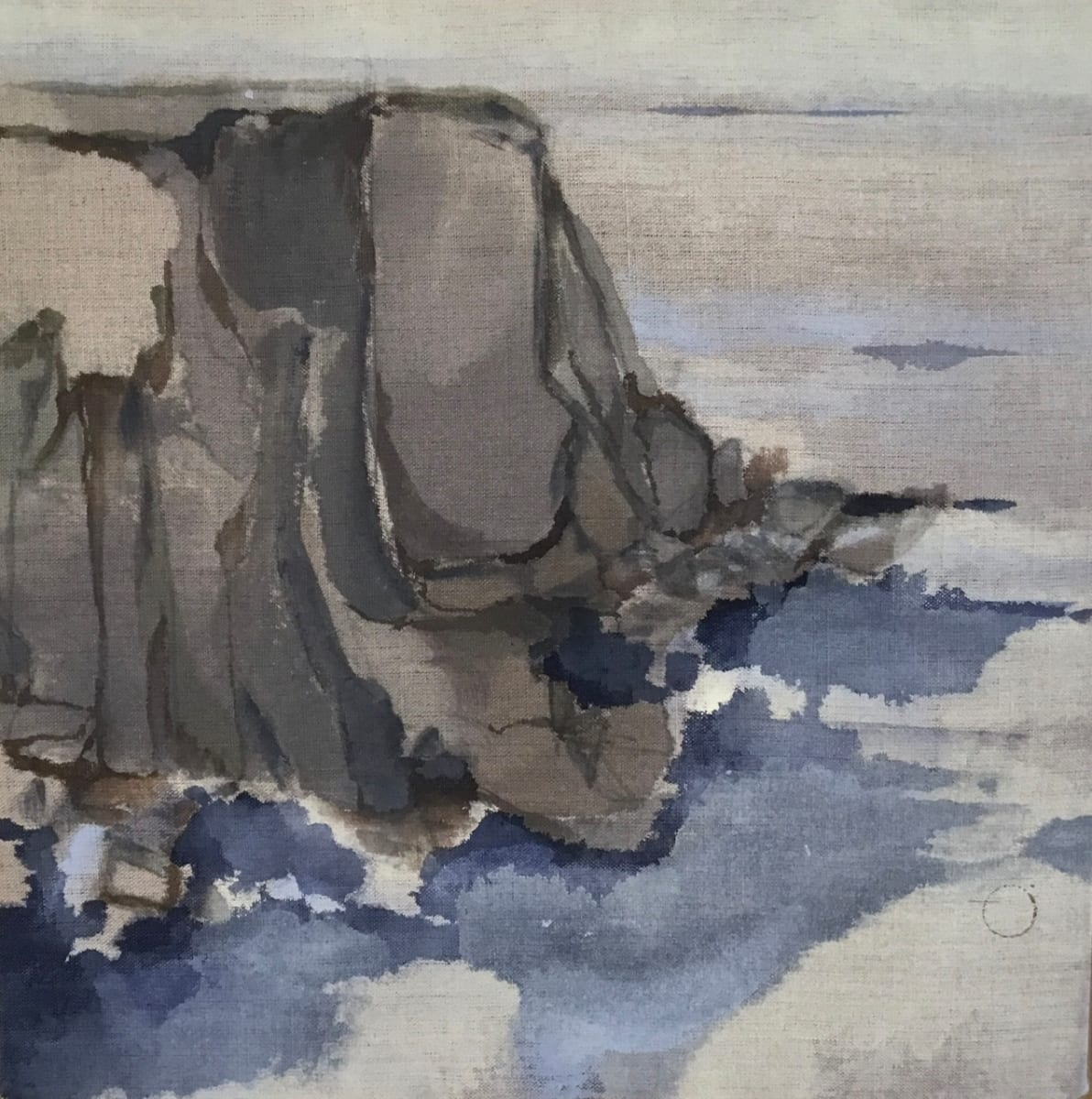 Untitled, Verso, 7 (Cliff Edge) by Barbara Houston