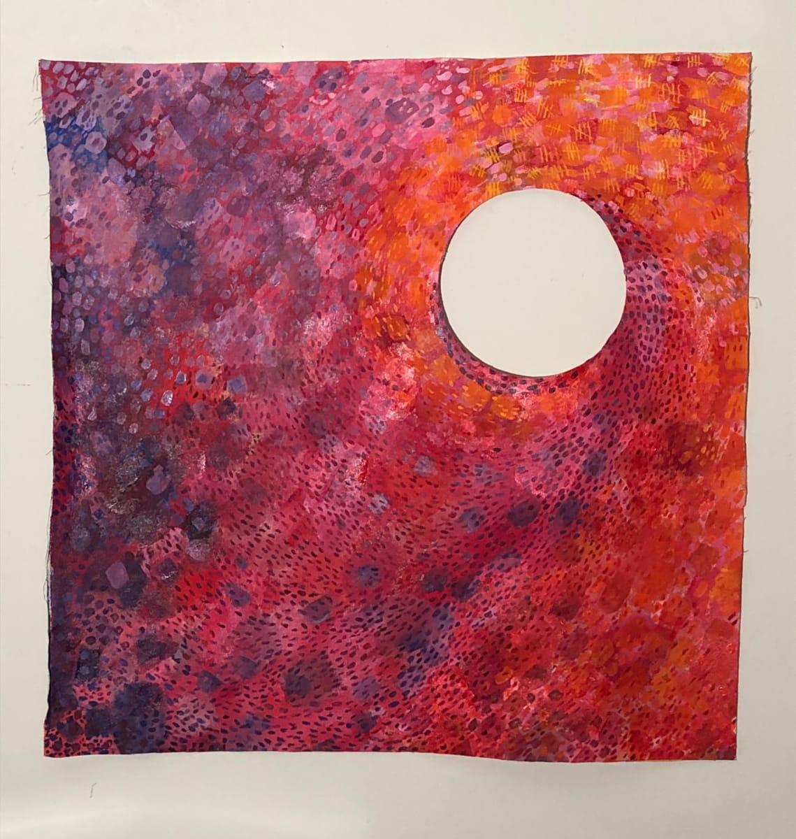 Orange to. Purple COVID color Tiers/Tears by LR (Lynne-Rachel) Altman