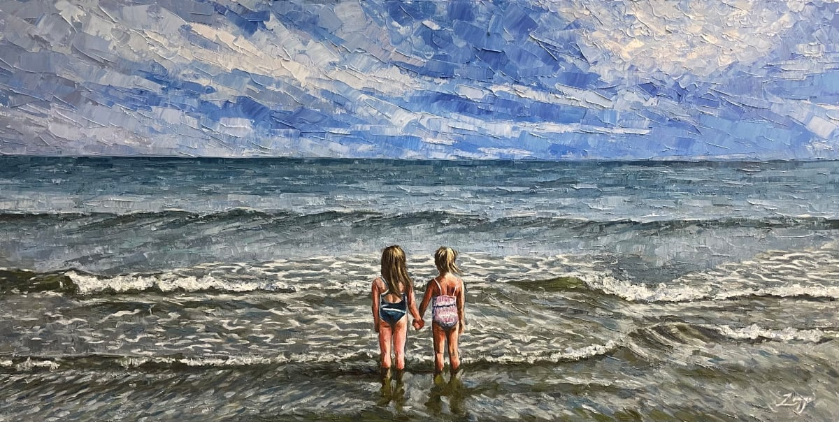 Meeting sea and sky by Zanya Dahl