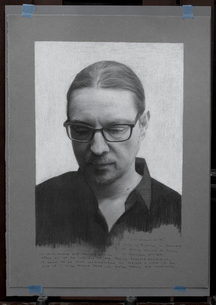 Self Portrait at 42 study by David Kassan