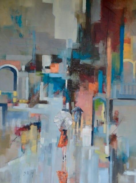 Rain in the City by Sharmila Roy