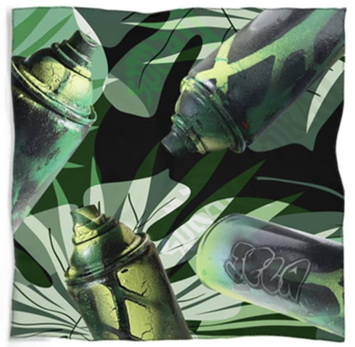 SPRAY: CAMO SCARF by judith angerman