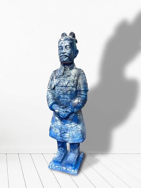 The Indigo Warrior by judith angerman  Image: Indigo Warrior: front view