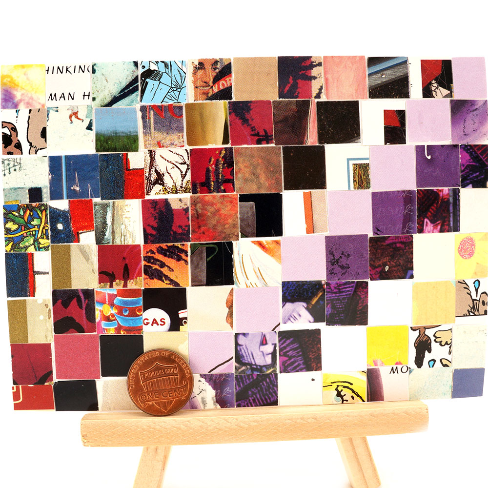 Collage Mosaic Art Upcycled Recycled Repurposed Artwork Archive