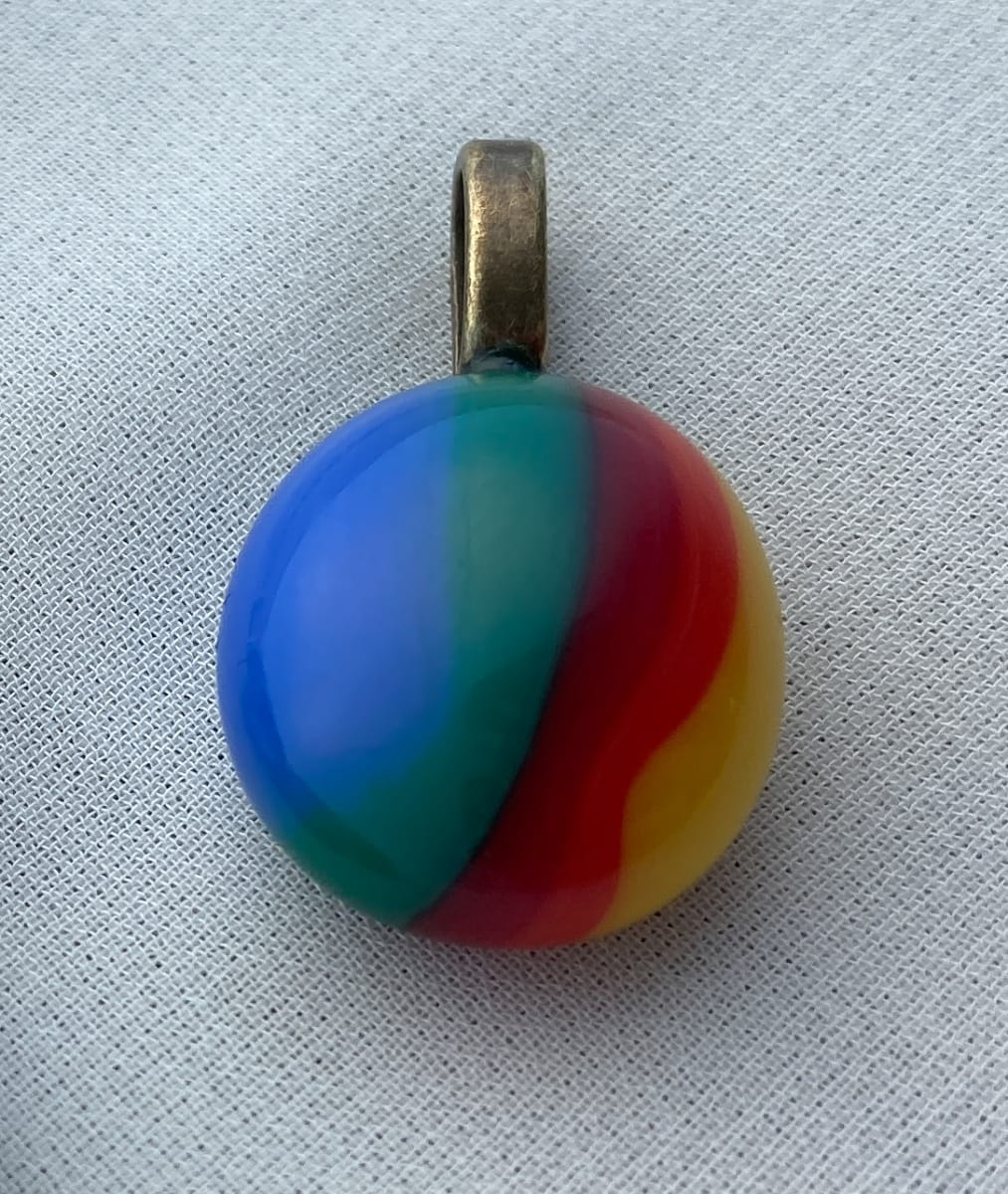 Fused glass pendant #71 by Shayna Heller