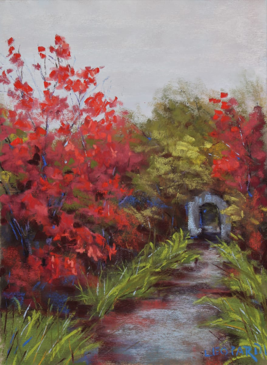 Path to Covered Bridge by Renee Leopardi