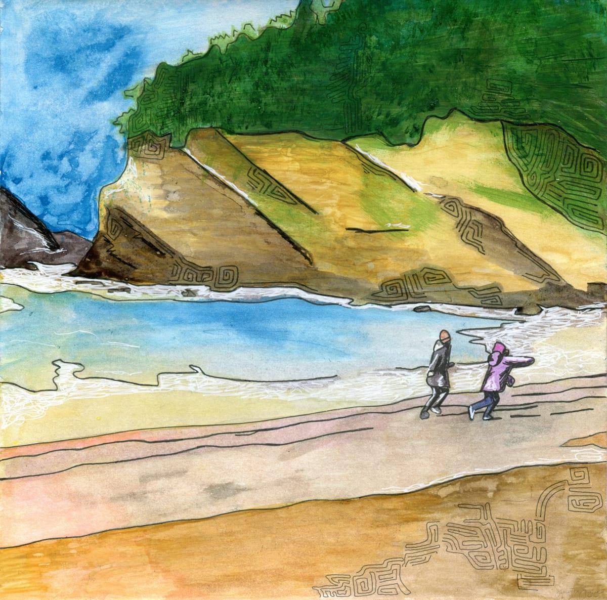 Running on the Beach by Samantha Snyder
