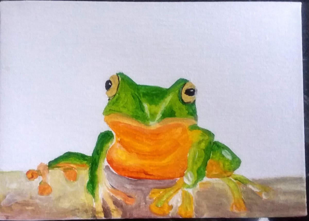 Coleshill Frog by Maria Kelebeev