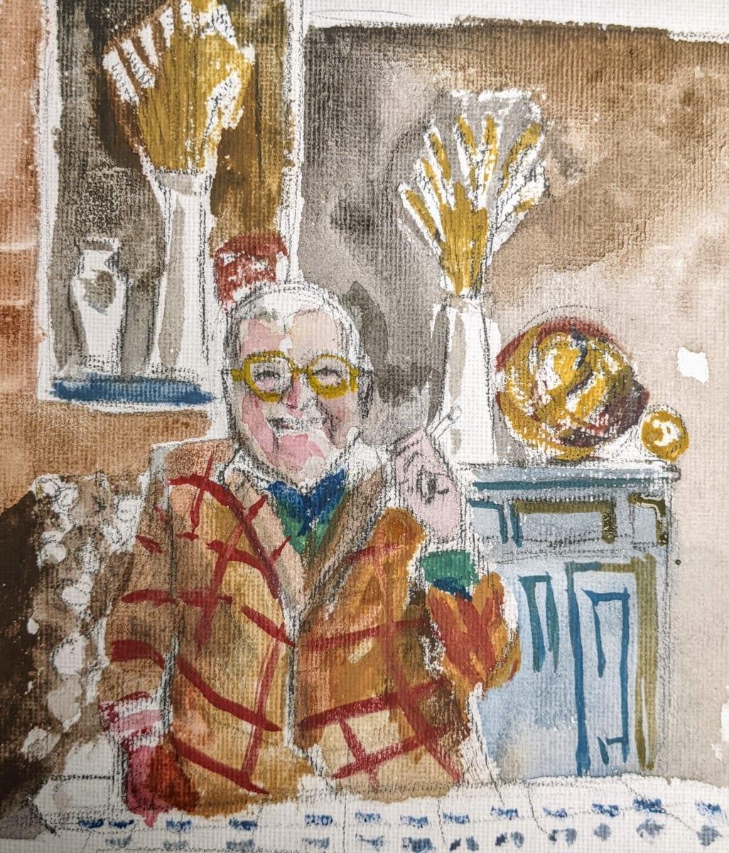 David Hockney by Maria Kelebeev
