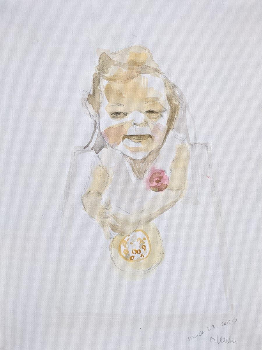 Eva is 1 by Maria Kelebeev