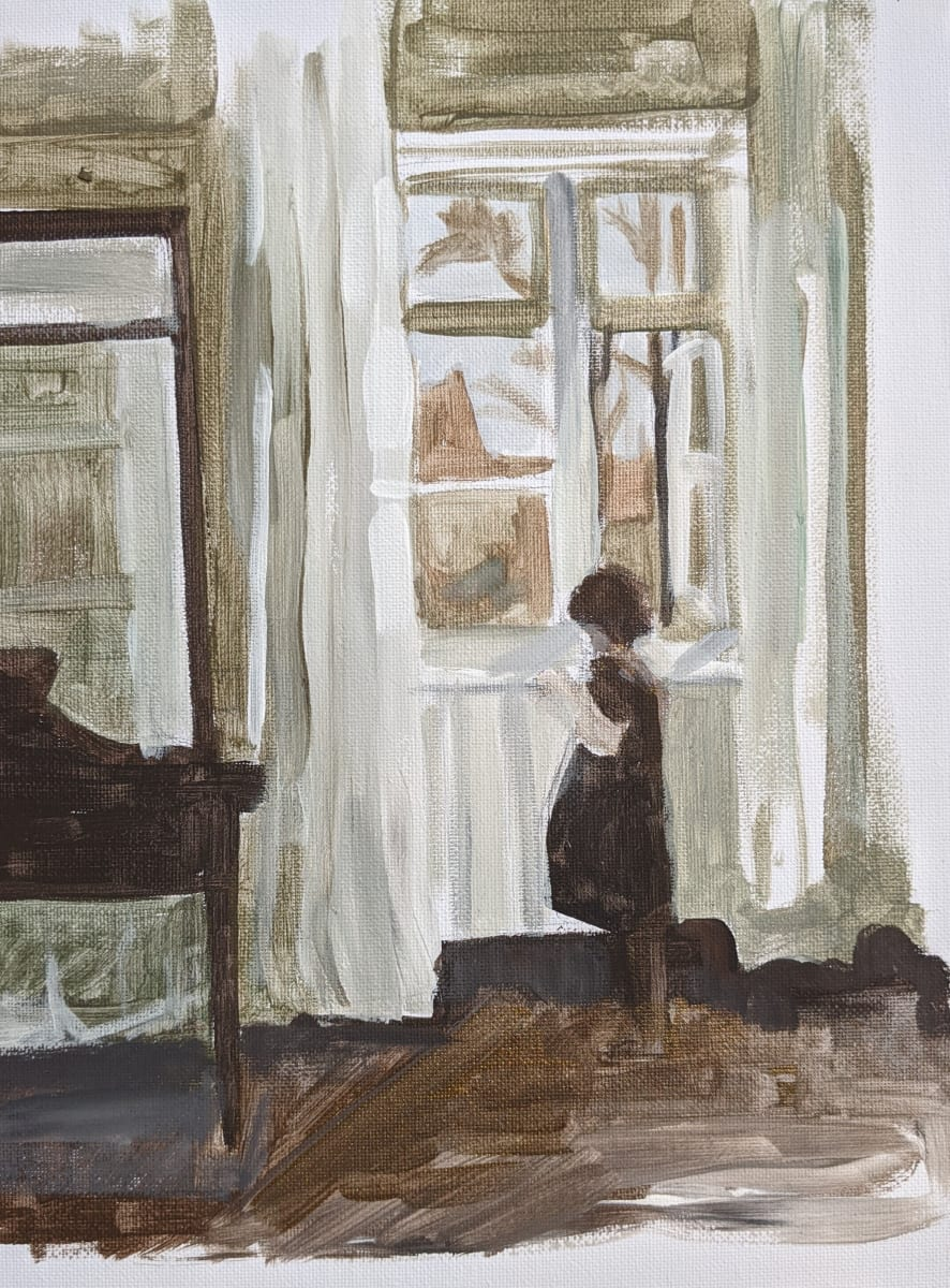 By the window by Maria Kelebeev