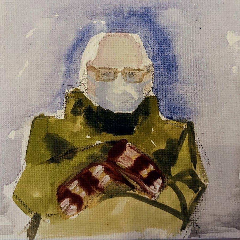 Bernie in Mittens by Maria Kelebeev